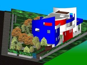 Progetto di scuola materna con annessa abitazione